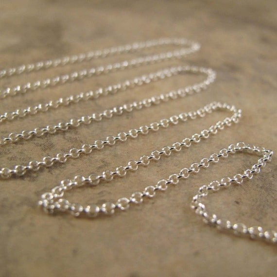 5 Feet of Sterling Silver Rolo Chain, .925 Sterling Silver Chain for Making Jewelry, Everyday Necklace (970i-s)
