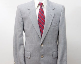 Men's Blazer / Vintage Bill Blass Grey Sport Jacket / Size 40 Medium