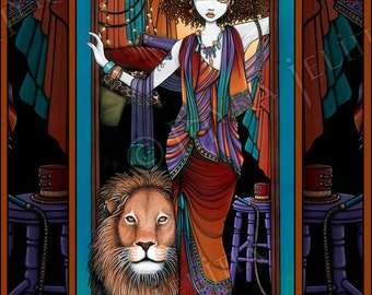 Leona Levon Bohemian Lion Tamer Circus Fairy Art 8x10 Signed PRINT