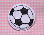 Set of 6pcs handmade felt soccer--white (FT368)