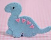 Set of 6pcs handmade felt dinosaur--blue (FT349)