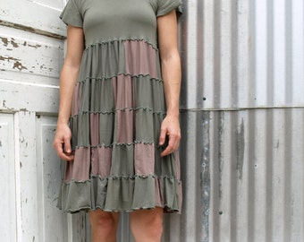 Francheska ~ Patchwork Peasant Dress ~ Bamboo & Organic Cotton ~ Made to Order