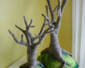 Magical Many Branches Felted Tree Island