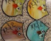 Owl  Stained Glass Suncatcher