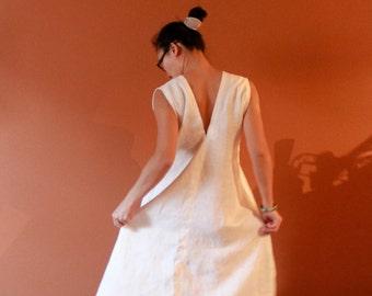 handmade to measure sleeveless flying swallow long dress
