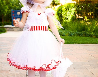 MARY POPPINS dress girls costume dress fun for special occasion or tea party