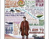"""I Aim to Misbehave- Firefly tribute print- 11""""x14"""" signed print"""