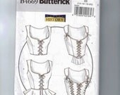 Misses Sewing Pattern Butterick B4669 Making History Laced Boned Bodice Corset Historical Costume Size 6 8 10 12 14 16 18 20 UNCUT