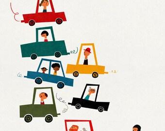 Traffic jam big print