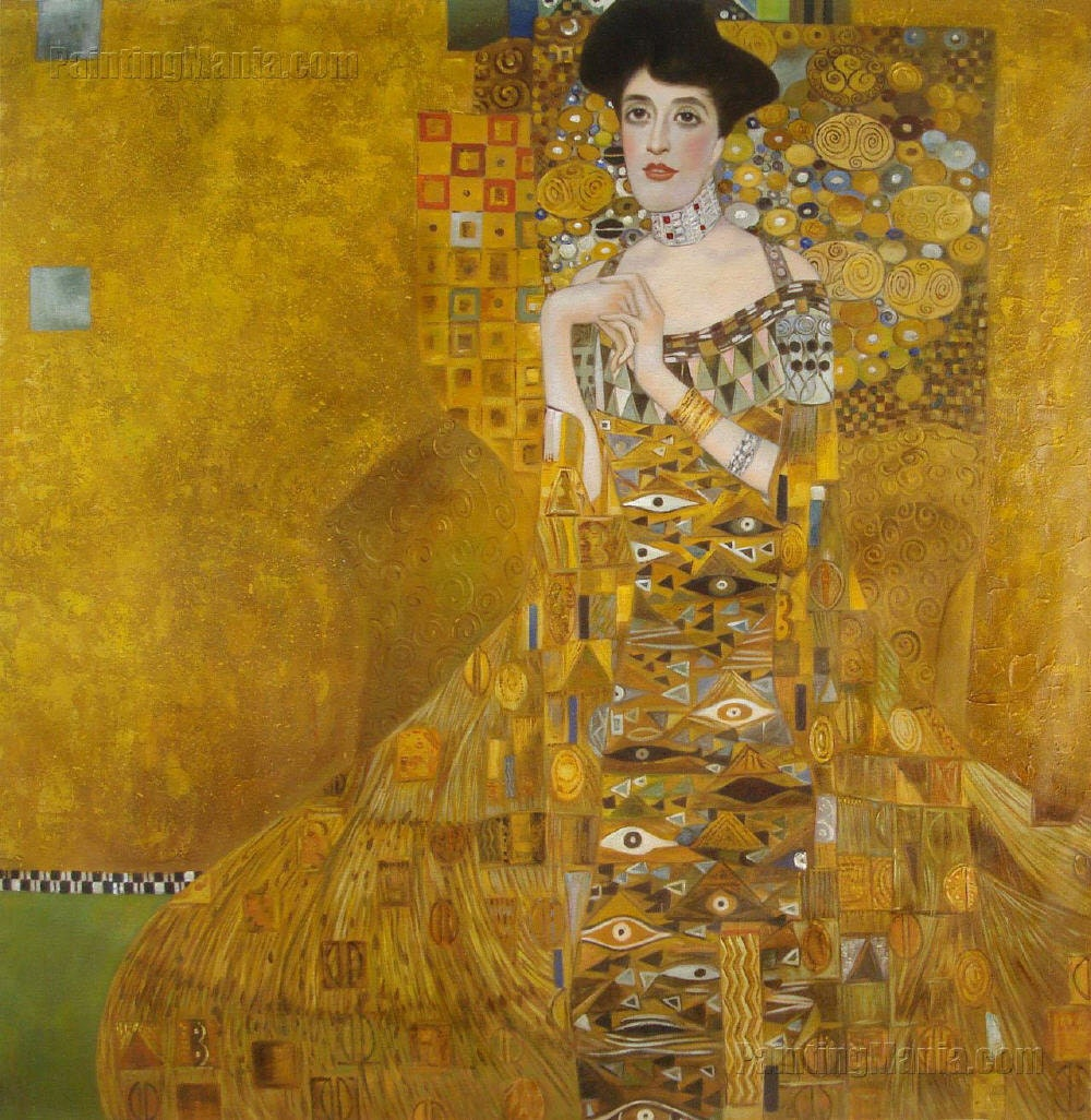 portrait of adele bloch bauer i gustav klimt hand painted. Black Bedroom Furniture Sets. Home Design Ideas