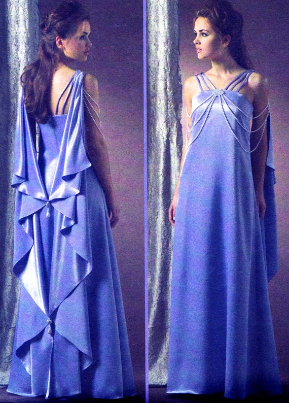 McCalls 4995 Queen Amidala Padme Dress and Drape Star Wars Cosplay Sewing Pattern Bust 38 - 40 - 42 - 44 Uncut