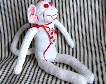 Sock Monkey Doll Valerie Valentine