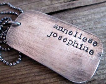 Dog Tag Necklace - personalized dog tag necklace -  Personalized Jewelry