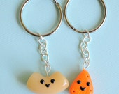 Kawaii Friendship Key Chains Macaroni and Cheese Best Friends Miniature Food Jewelry