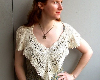 Hand Knitting Pattern- Milly Poncho