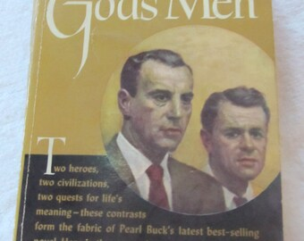 vintage GOD'S MEN, by Pearl S. buck--  paperback novel-- (1953)