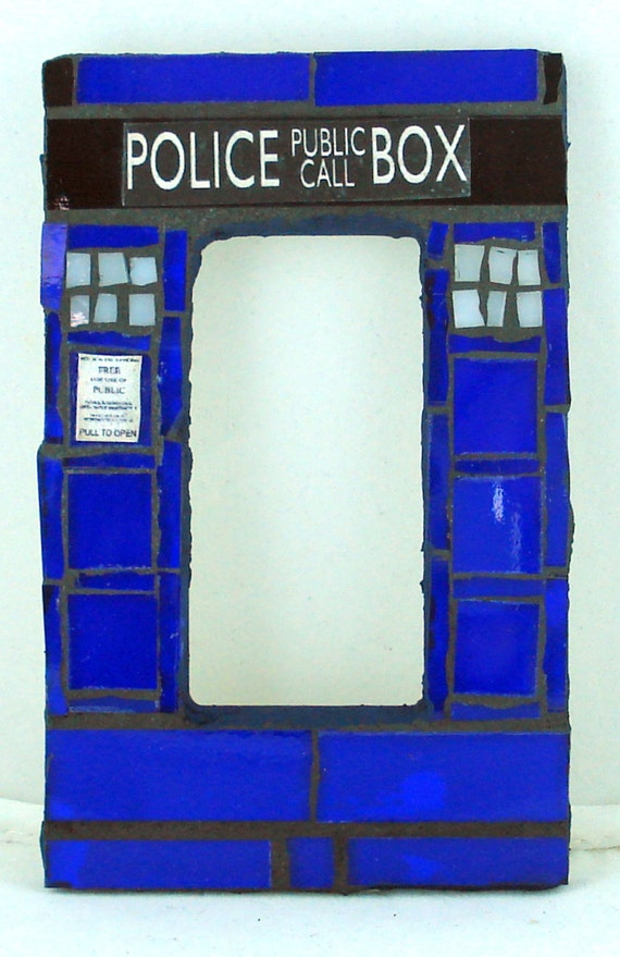 Doctor who tardis mosaic rocker light switch plate cover for Tardis light switch cover