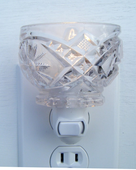 Clear Pressed Depression Glass Star Pattern Tea Cup Night