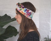 Spring Impressions Silk and Cotton Scarf / Headband