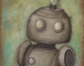 Robot n ° 3 - Cecil - impression jet d'encre de peinture originale, art de robot kids room Decor