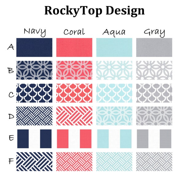 Navy And Coral Crib Bedding