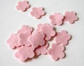 Blush Pink Felt, Flower Die Cuts, Pure Wool Felt, Set of 15, Wedding DIY, Party Supply, Baby Shower Scrapbooking, Confetti, Quilting Supply