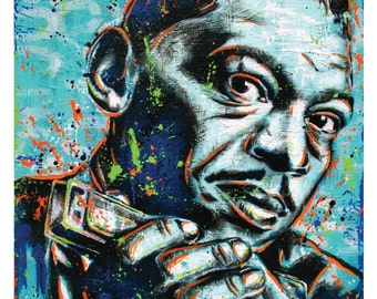 Little Walter - Blues Harmonica Legend - 12 x 18 High Quality Pop Art Print