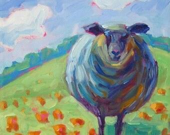 Black Sheep - Sheep Art - Sheep Print - Paper - Canvas - Wood Block