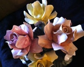 Vintage Capodimonte Porcelain Mixed Flowered Centerpiece Outstanding
