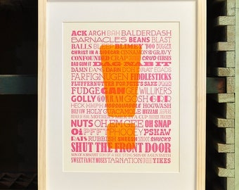 Un-Profanities BANG Letterpress Poster