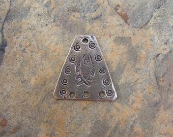 Bronze 3-hole Fish Pendant