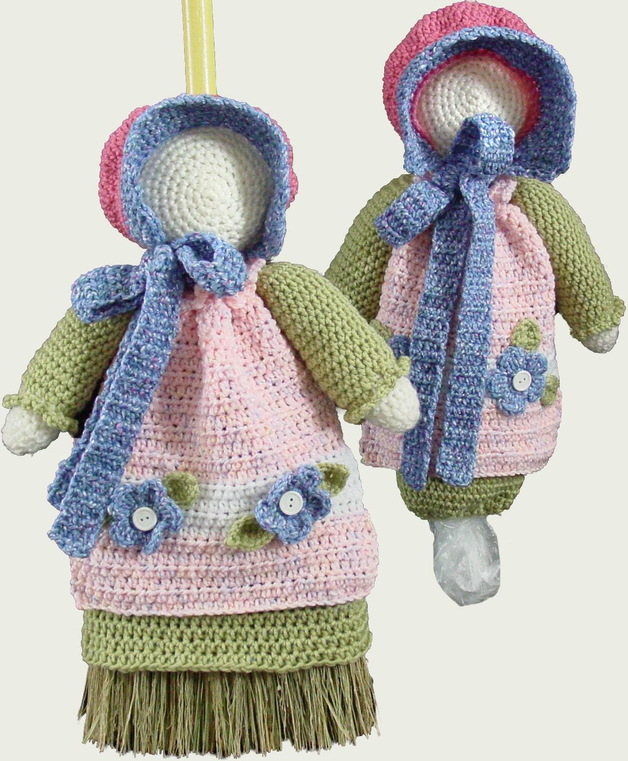 Crochet Bag Keeper Pattern : Sunbonnet Sue Broom Cover and Bag Keeper Crochet Pattern PDF