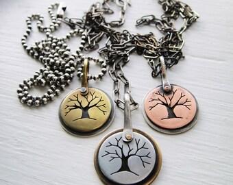Tree Cutout Necklace - Dark Matter Series