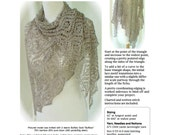 PDF pattern Ethereal Fichu triangular shoulder wrap