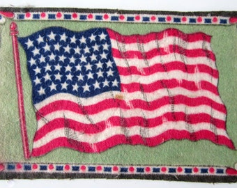 Tobacco Nation Flag Felt United States Rare Blanket USA Cigar Box