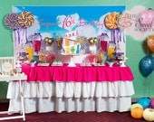 TEENAGE DREAM SWEET 16 Birthday Printable Party Backdrop - you print