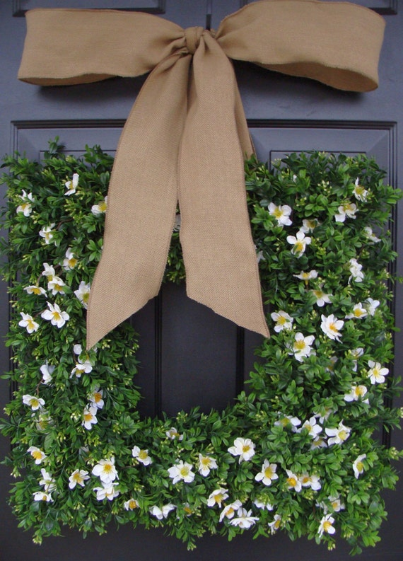 Add a Bow, Wreath Decoration, Bow Added to Wreath, 4 inch Satin or Burlap Bow, 4 inch Wired Burlap