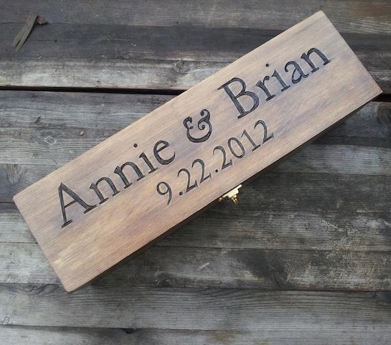 Wedding Wine Box Engraved Wine Box Wooden Wine Box Memory