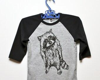 Raccoon Raglan Sleeve Tee- Kiddo (2-10)