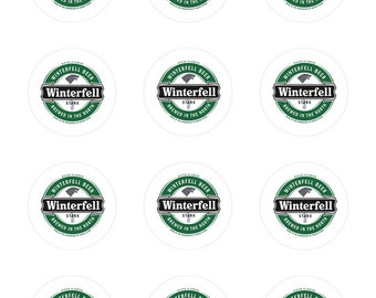 Winterfell Beer Round Label