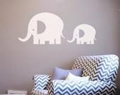 Large Elephants Wall Decal Sticker - Set of 2  DB234