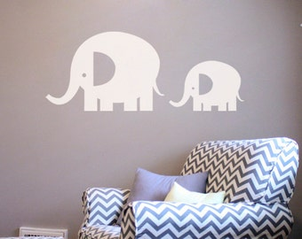 Large Elephants Wall Decal Sticker - Set of 2  DB234