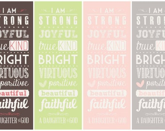 Young Women ... a Daughter of God - Subway Art - Instant Download