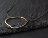 simple organic metal necklace