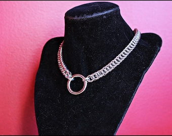 Ladies Bondage Choker  Half Persian Chainmail stainless steel