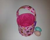 SALE, Last One, Lil' Princess - Fabric Easter Basket