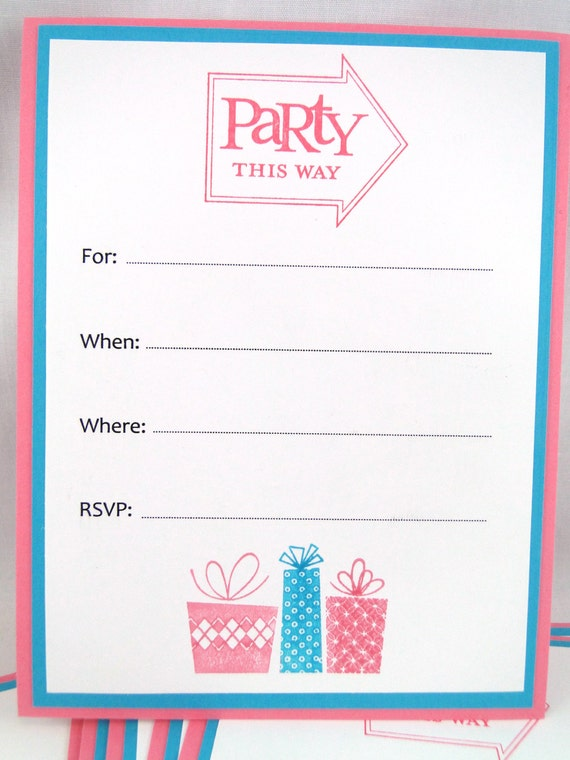 items similar to ready to ship birthday party invitations fill in