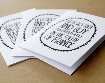 funny valentine cards, anniversary cards, romantic cards, ingrid michaelson you and i lyrics, let's get rich, wedding cards, letterhappy