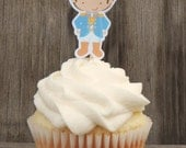 Princess Party - Set of 12 Brunette Prince Cupcake Toppers by The Birthday House