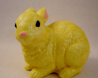Yellow Sugar Bunny Figurine